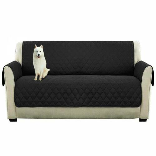 Luxury Quilted Reversible Sofa Protector Throw Cover Waterproof Seater Pet UK