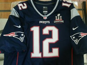 Details about Rare Tom Brady Super Bowl LI Jersey Authentic Opening Banner Night