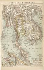 Ostindien Vorderindien Hinterindien Kambodscha Vietnam Birma Brockhaus 2090