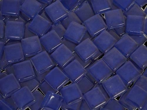 Dark Blue Crystal Glass Mosaic Tiles 1cm - Mosaic Tile Supplies Art Craft
