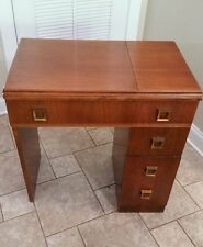 Vintage Sewing Machine Cabinet Desk Table Singer 301 Will Drop With Shipper