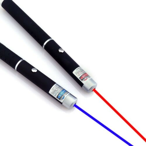 2pcs 10Miles 5mw Purple Blue Red Laser Pointer Range Visible Beam AAA Lazer Pen