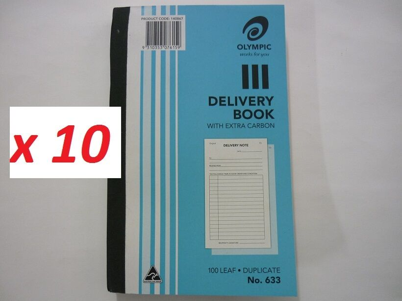 10x Olympic Delivery Book 633 with extra carbon Duplicate 100 leaf 8 x5  140867