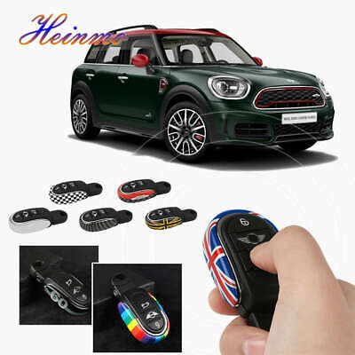 Miniclue Remote Fob ABS Key Cover Case Keychain for Mini Cooper ONE S JCW F54 F55 F56 F57 F60,Gross Grey and Red Calipers Style