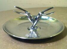 TOUCAN BIRD Vintage HAMILTON Chrome PINCHERETTE Match Holder ART DECO Ashtray