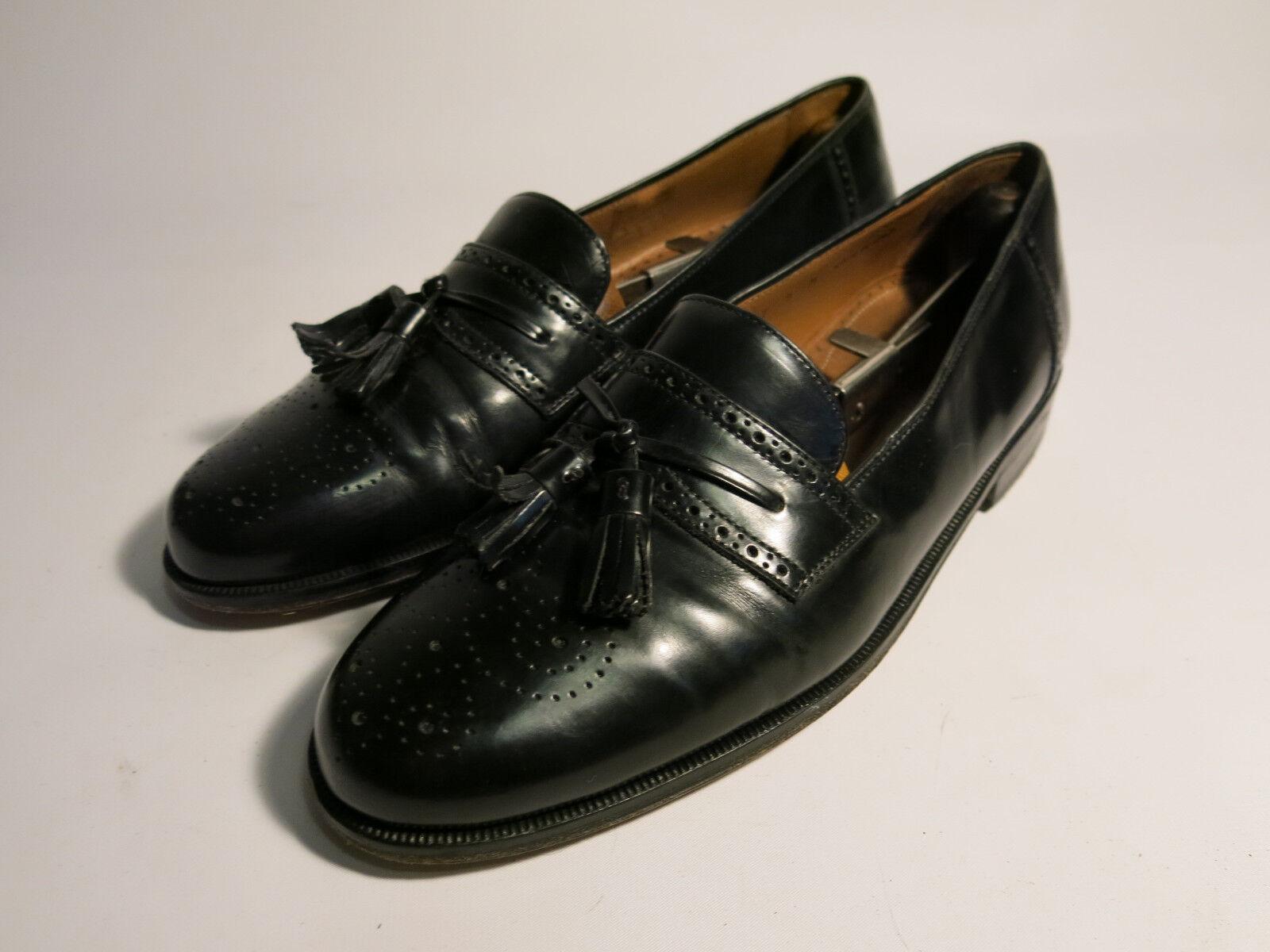fino al 70% di sconto Magnanni Uomo 9 M nero nero nero Leather Brogued Tassel Loafers Made Spain  gli ultimi modelli