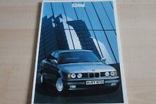 108354) BMW 5er Reihe E34 524td Prospekt 01/1990