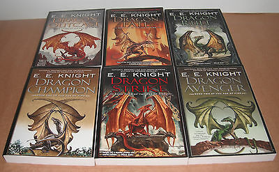 Dragon Champion Vol.1-6 Complete Lot, Set by E. E. Knight NEW
