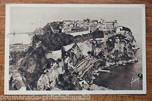 Postcard-antique-MONACO-Principality-The-Rock