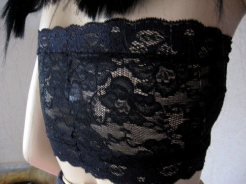 NEW Black Grey Brown floral  Lace Bra Top Party Dance Hippy Gothic All Sizes