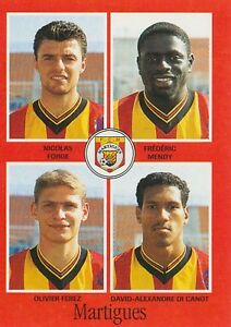 N-344-MENDY-FEREZ-FORGE-FC-MARTIGUES-VIGNETTE-PANINI-FOOTBALL-97-STICKER-1997