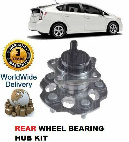 FOR TOYOTA PRIUS 1.8 HYBRID VVTi 2012> NEW REAR WHEEL BEARING HUB ASSEMBLY KIT