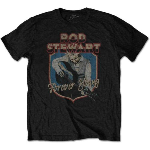 ROD STEWART Forever Crest Mens T Shirt Unisex Tee Official Licensed Band Merch