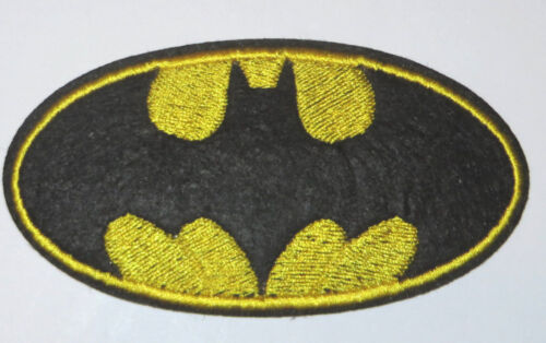 "DC COMICS BATMAN LOGO 4/"" LONG X 2/"" EMBROIDERED IRON//SEWN ON PATCH"
