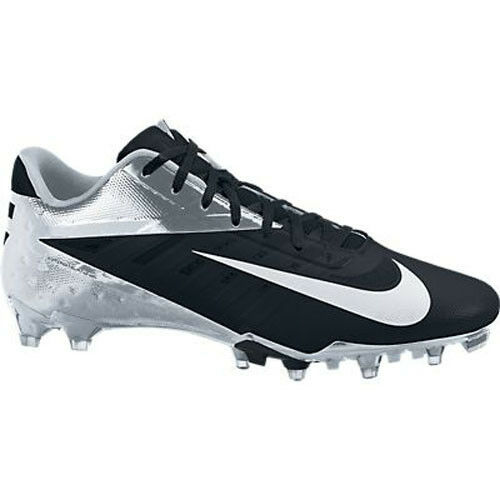 Nike VAPOR TALON ELITE LOW Football Cleats shoes 12 Black NFL HYPERFUSE SILVER
