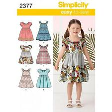 SIMPLICITY SEWING PATTERN CHILD'S DRESSES SIZE 3 4 5 6 7 8  2377 SALE