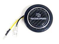 2 Carbon Fiber Steering Wheel Horn Button For Mazda