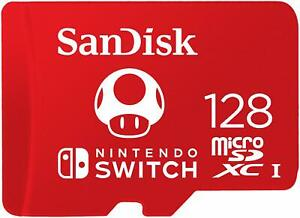 SanDisk 128GB MicroSDXC UHS-I Card for Nintendo Switch -SDSQXAO-128G-GNCZN