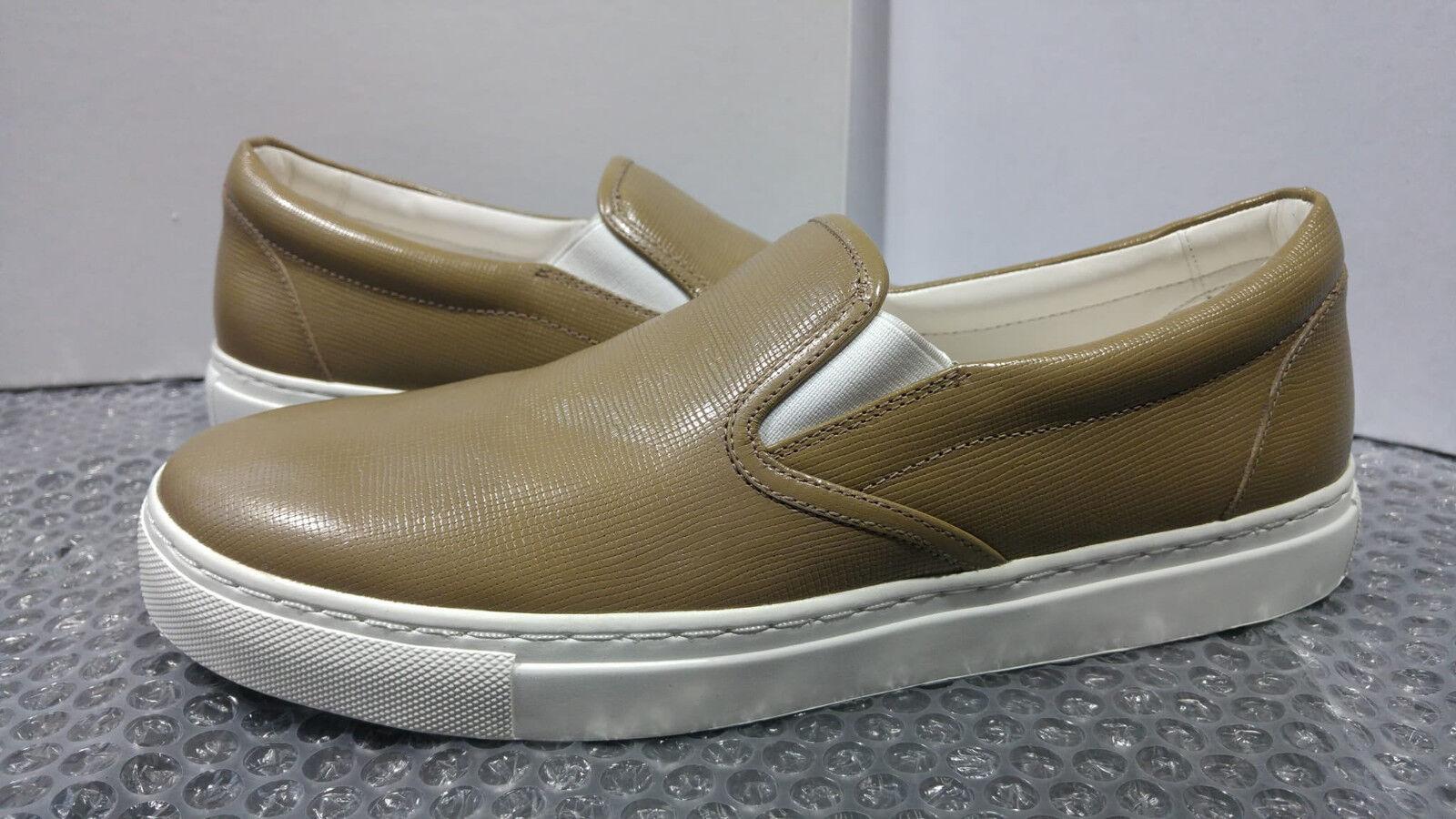 Hugo Boss Cleah-S womens beige khaki trainers size 8UK (41EU) - 100% Leather
