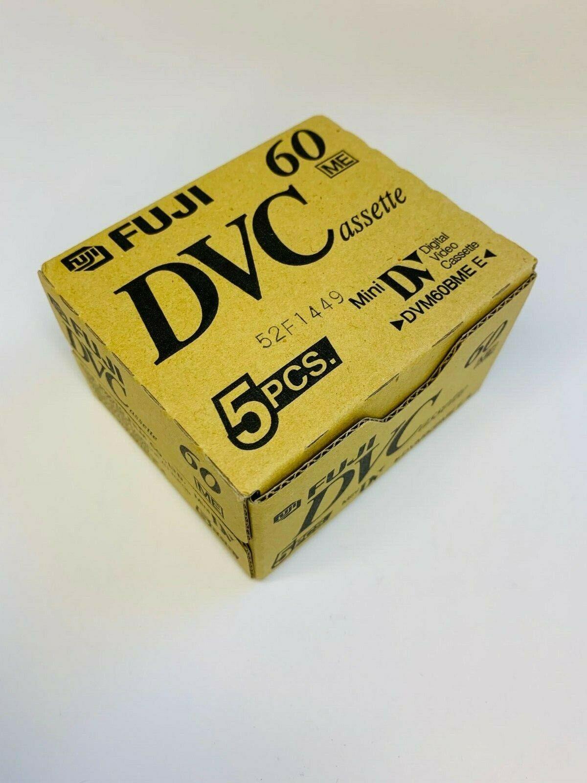 Box of 5 Fuji DVM60BME Mini DV Tapes - New & sealed