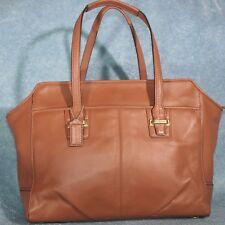 9b497ce378 Coach F25205 Taylor Leather Alexis Carryall Handbag Saddle Brown EXCELLENT