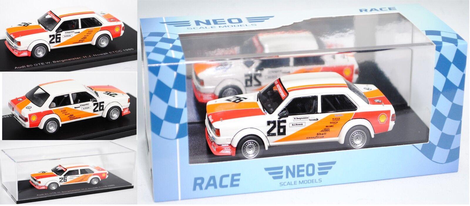 NEO 45220 AUDI 80 GLE MIS. 2 viaggi auto, Monza, maestro di Montagna Nowak 1 43