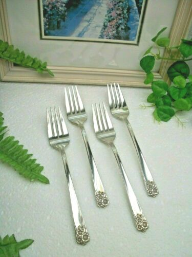 4   International Silver  Wm Rogers /& Son   APRIL  Salad Forks   1950