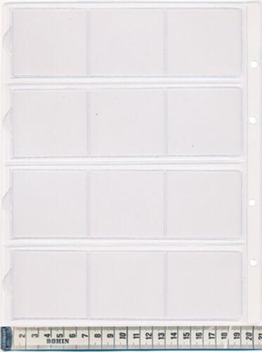 Feuille pour insignes 26 x 21,12 Cases 55 x 55 millimètres  LOT de 10
