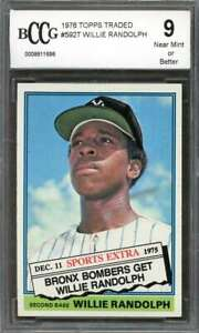 Willie-Randolph-Rookie-Card-1976-Topps-Traded-592T-New-York-Yankees-BGS-BCCG-9