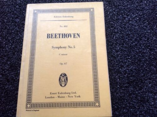1 of 1 - Symphony No 5: Edition #402 Eulenburg by Ludwig van Beethoven