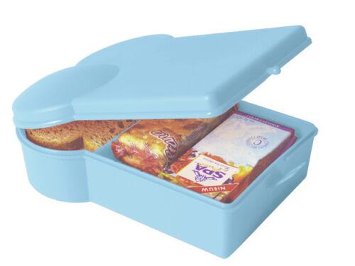Bunte Brotdose Sandwich Design mit 2 Fächer /& Obstwölbung Brotbüchse Lunchbox