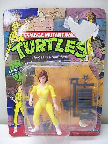 TMNT TEENAGE MUTANT NINJA TURTLES APRIL O'NEIL MOC Blau STRIPES