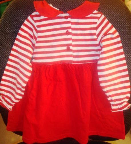 PURSE MACY/'S GIRLS CHRISTMAS TODDLER RED STRIPE DRESS SIZE 2T 3T 4 4T 5 5T 6 6X