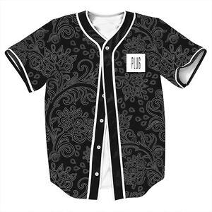 Im-the-Plug-Paisley-Button-Down-Casual-Baseball-Jersey-Men-039-s-3D-Artwork-T-shirts