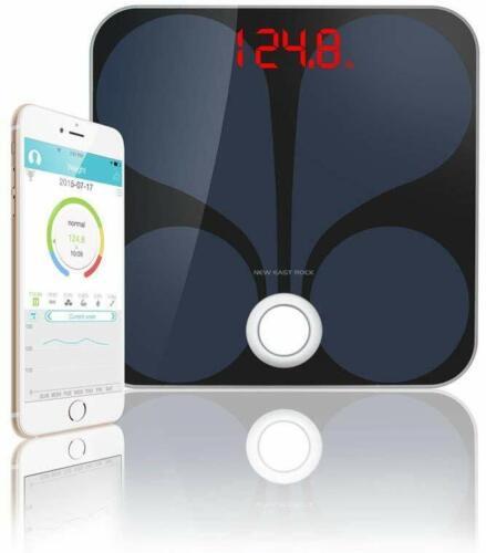 Bluetooth Smart Body Weight Scale Low Profile Tempered Glass Digital Bathroom BM
