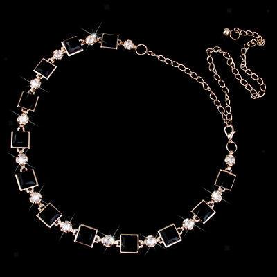 Women Fashion Low /& High Waist Silver Metal Chain Belt W// Heart Rhinstones S-XL
