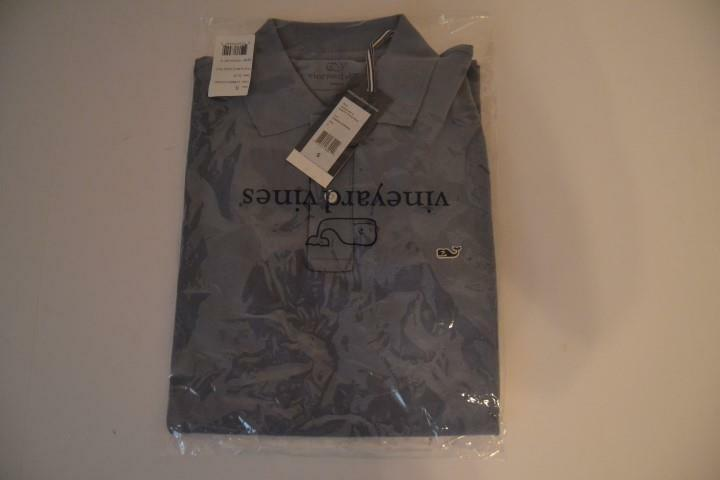 VINEYARD VINES SUMMER EVENING blueE SLIM FIT PIQUE POLO SHIRT MENS SIZE SMALL NEW