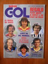 Super Gol n°14 1985 Junior Platini Maradona -- no poster  [D24]
