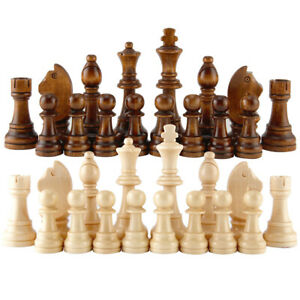 Children-Wooden-Chess-Pieces-Figures-Tournament-Game-Toy-Set-Lin