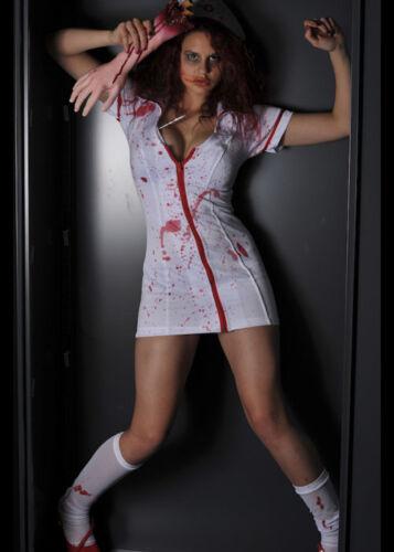 Adult Ladies Halloween Zombie Nurse Costume
