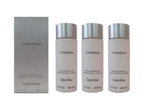 Calvin Klein Contradiction 3 x 6.7 Oz Moisturizing Shower Gels for Women