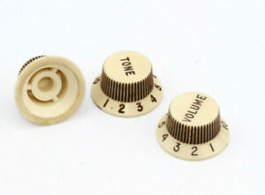 "Aged Fender LEFTY Strat Knobs fits to Strat® /""Art of Aging/"" Series"