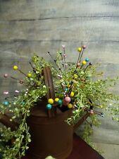 CANDY SHOP FLORAL PICK/PRIMITIVE/beads/spray/stem/ARRANGEMENTS/BERRIES/SET OF 2