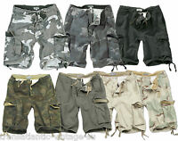 SURPLUS VINTAGE CARGO SHORTS MENS MILITARY STYLE ARMY COMBAT PURE WASHED COTTON