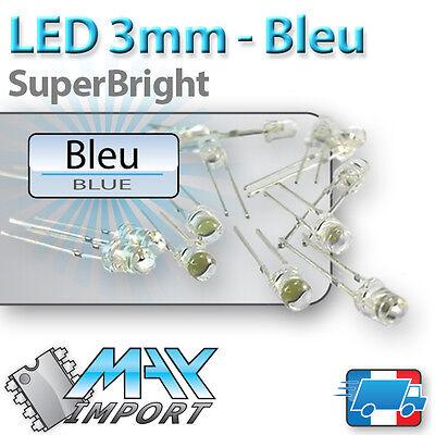Lots multiples LED Bleues 3mm Diffusante prix dégressif bleu