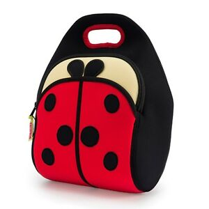 Details About Dabbawalla Bags Ladybug Lunch Bag Preschooler Elementary Insulated Tote Eco