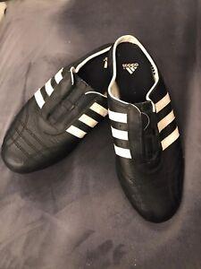 Ladies Leather Black Adidas Slip On