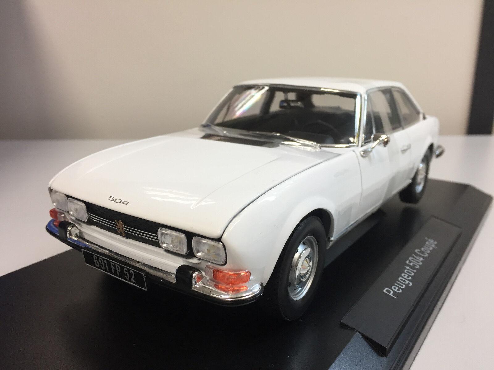 protección post-venta Norev Peugeot 504 Coupé Coupé Coupé 1969 blanco 1 18 184825 6  todos los bienes son especiales
