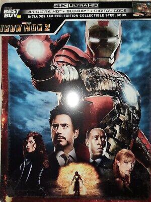 Marvel S Iron Man 2 2010 Steelbook 4k Ultra Hd Blu Ray Disc New No Digital Copy Ebay