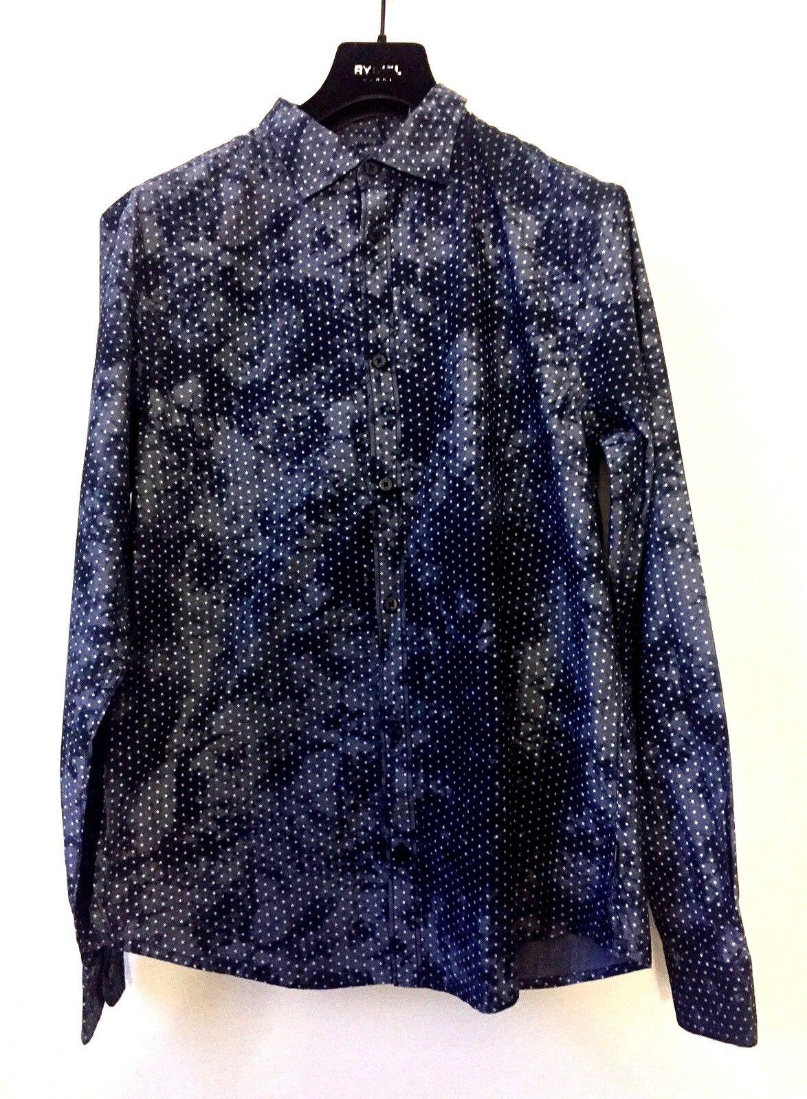 Armani Jeans señores AJ nuevo camisa  manga larga talla XL azul Estrellas ocio Shirt  encuentra tu favorito aquí